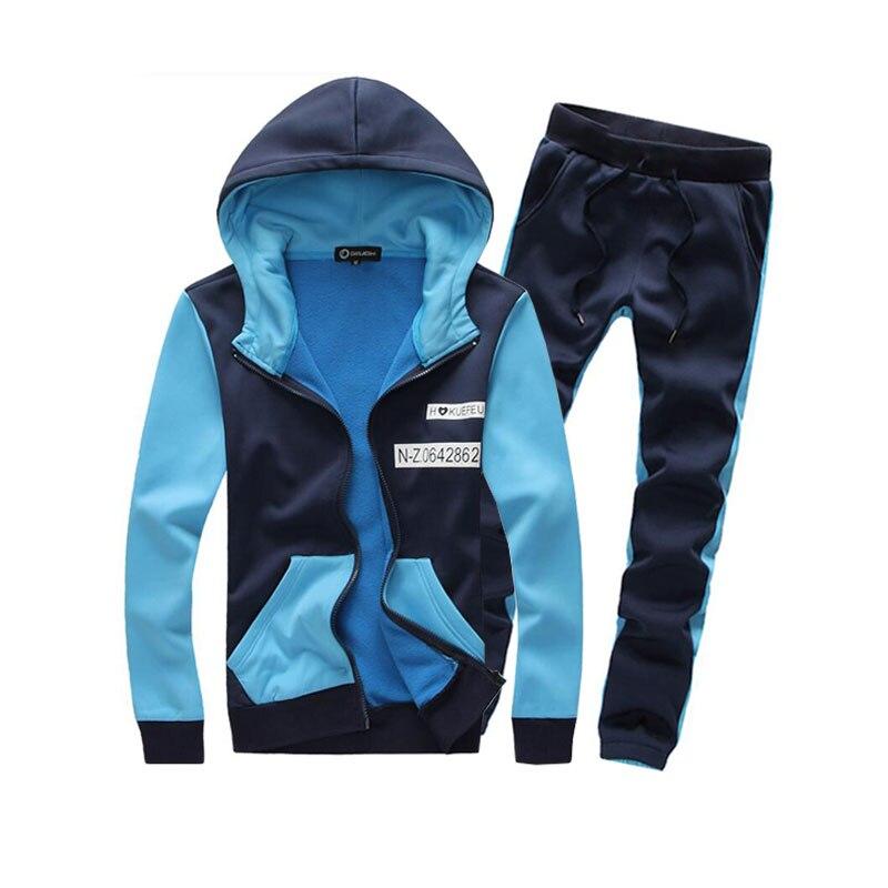 2016 New Sale Autumn Korean Fashion Man Hoodies wear Tracksuits Men Hoody Sport Hoodie Clothing Set Size M-3XL