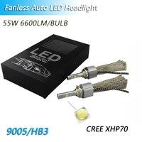Fanless Cars LED H4 6000k 4300K led bulbs 13200LM H11 H8 XHP70 Chips for H7 55W Headlight 9005 9006 H9 H11 Automobile Fog Lights
