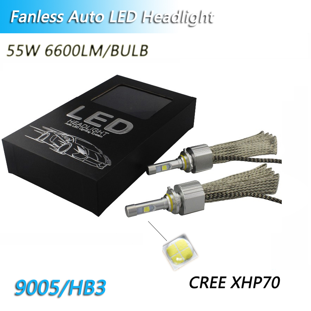 Fanless Cars LED H4 6000k 4300K led bulbs 13200LM H11 H8 XHP70 Chips for H7 55W Headlight 9005 9006 H9 H11 Automobile Fog Lights image