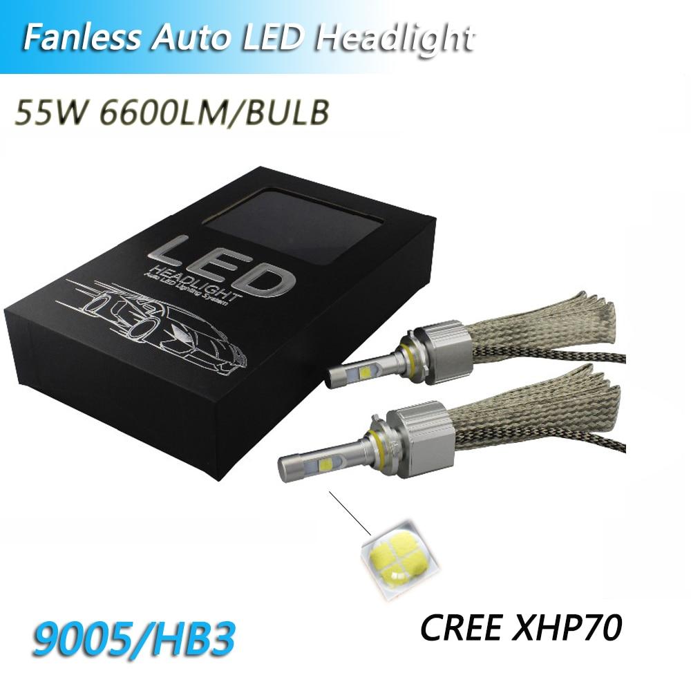 Fanless Voitures LED H4 6000 k 4300 K ampoule LED 13200LM H11 H8 XHP70 Puces pour H7 55 W Phare 9005 9006 H9 H11 Automobile Phares Antibrouillard