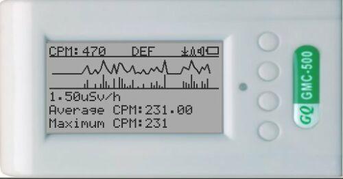Geiger Counter Radiation Detector Beta Gamma X-Ray Dual tube GQ GMC-500