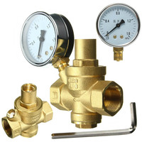 Brass DN20 3 4 Water Pressure Regulator Valves With Pressure Gauge Pressure Maintaining Valve Water Pressure