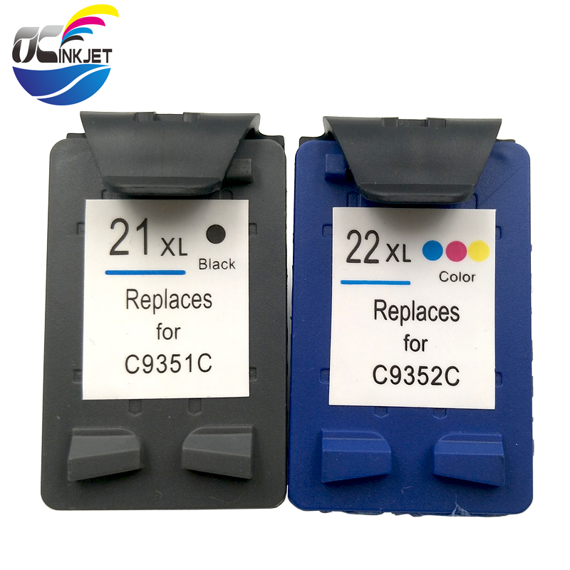 OCINKJET <font><b>21</b></font> 22XL Replacement Ink <font><b>Cartridge</b></font> For <font><b>HP</b></font> <font><b>21</b></font> <font><b>22</b></font> hp21 22xl For <font><b>HP</b></font> Deskjet F2180 F2280 F4180 F380 380 3915 3920 F4100 image