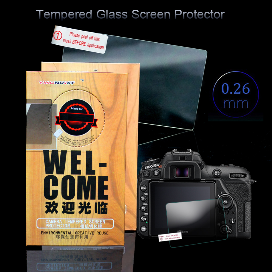 Original LCD 3 inch Camera Screen For Nikon D5100 D5200 D7500 HD Tempered Glass Screen Protector Toughened Glass Protective Film