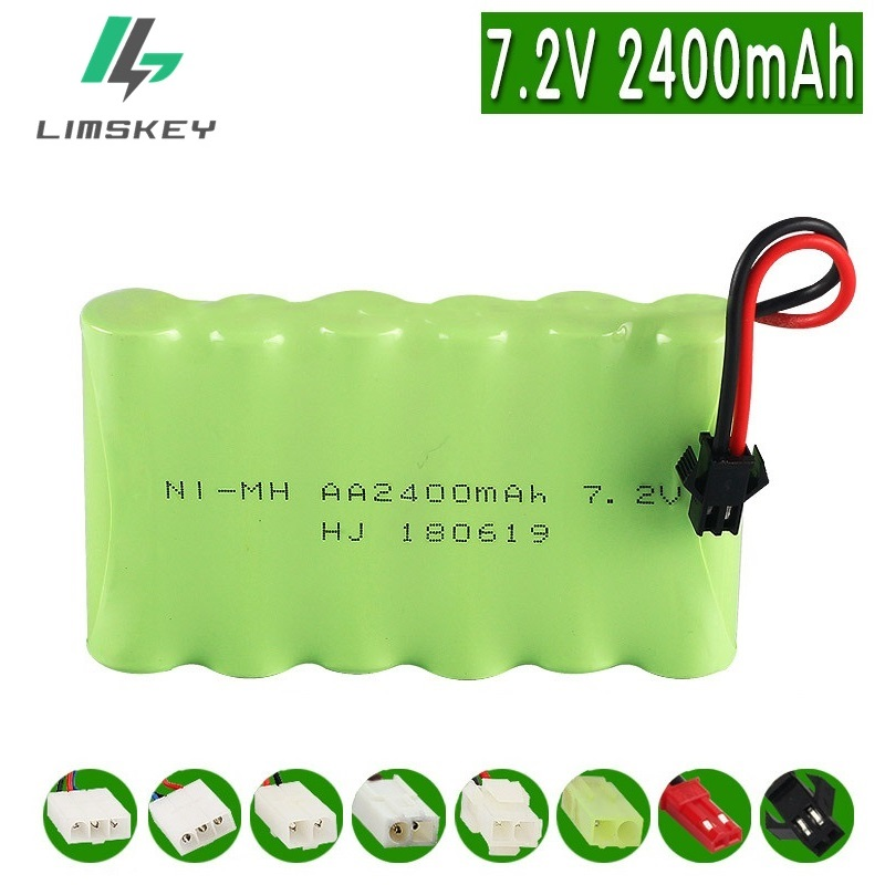 7.2v 2400mah Rechargeable Battery Pack 7.2v Battery 6*AA NIMH Battery For Remote Control Electric Toys Cars Boats Lighting 1pcs