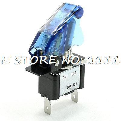 DC 12V 20A On/Off 3 Pin Terminals White LED Illuminated Car Auto Toggle Switch