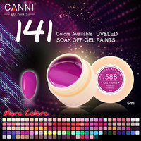 #50618 CANNI Nail Art 2017 Summer 12 Pieces 5ML 141 Colors Nail Art Paint Gel Ink UV Gel For Nail Design
