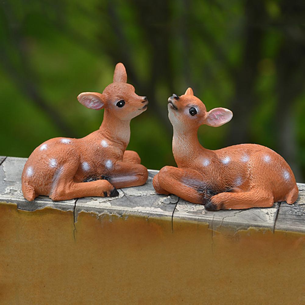 Micro Landscape Gardening Potted Simulation Mini Deer Decorative Ornaments