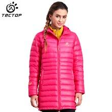 Tectop Women Down Jacket Thermal Duck Down Warm Women Winter Long Jacket Outdoor Sport Camping Hiking Down Jacket Female