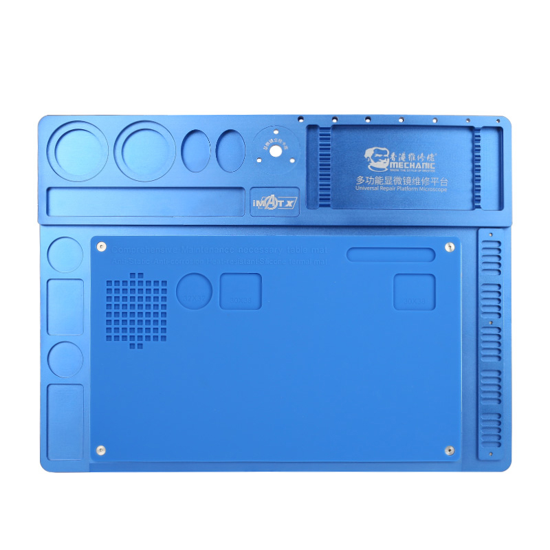 MECHANIC Aluminum Alloy Pad Multi-function Repair Pad Microscope Base Mobile Phone Repair Maintenance PlatformMECHANIC Aluminum Alloy Pad Multi-function Repair Pad Microscope Base Mobile Phone Repair Maintenance Platform