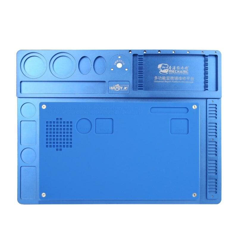 Mecánico de aleación de aluminio de Multi función de reparación de microscopio Base de reparación de teléfono móvil de la plataforma de mantenimiento