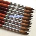 1 шт. 100% Колонка соболиная акриловая кисть для ногтей № 10 #12 #14 #16 #18 #20 #22 #24 УФ гелевая ручка для резьбы жидкая пудра для самостоятельного рисов...