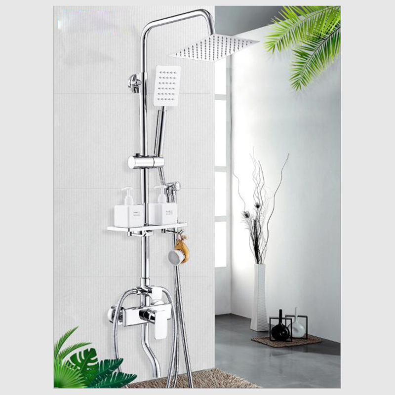 Système de douche nouveauté mitigeur de douche de bain robinet de douche de salle de bain avec panneau de douche de pluie Set robinet de cascade