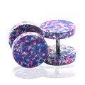 1 пара новая мода горячие 10 мм из нержавеющей стали фиолетовый конфеты цвет ввинчивается с беруши серьги стержня ювелирных изделий