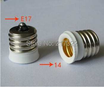 E17 TO E14 adapter Conversion socket High quality material fireproof material E17 TO E14 socket adapter Lamp holder