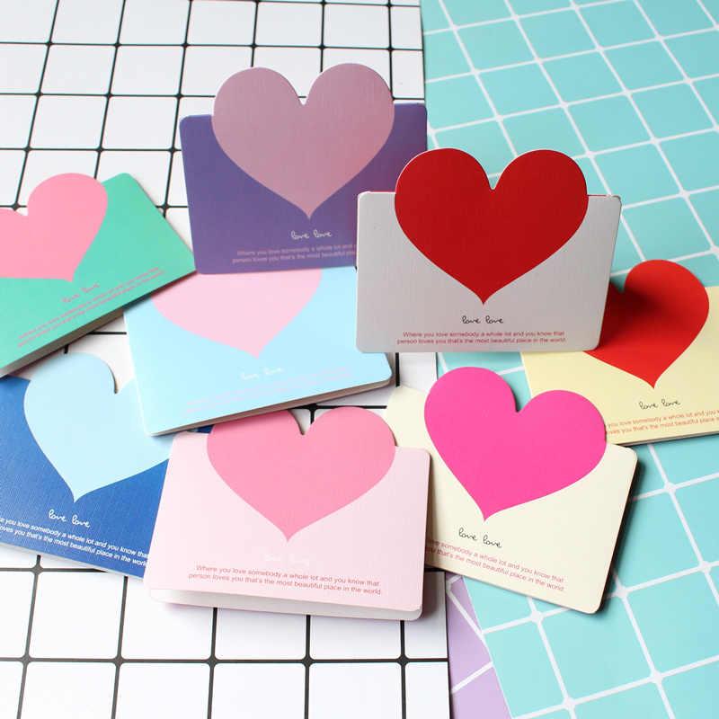 Маленькая открытка с сердечком