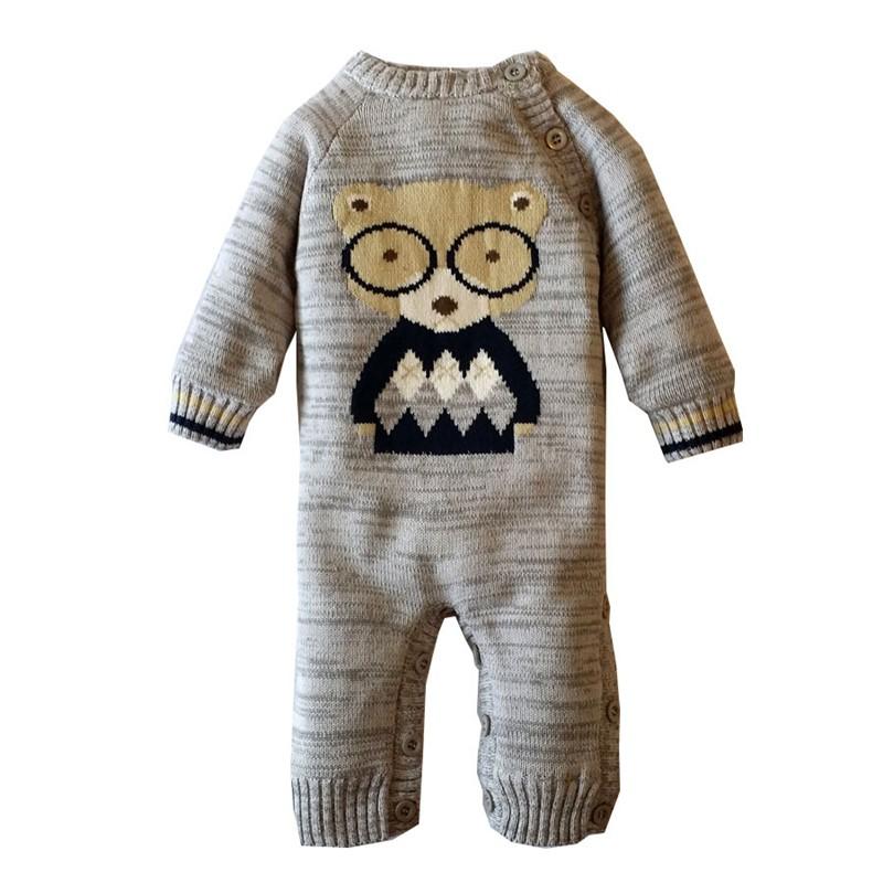 955a31eadff7 Winter Cotton Baby Rompers Clothing Polar Fleece Coveralls Knit ...