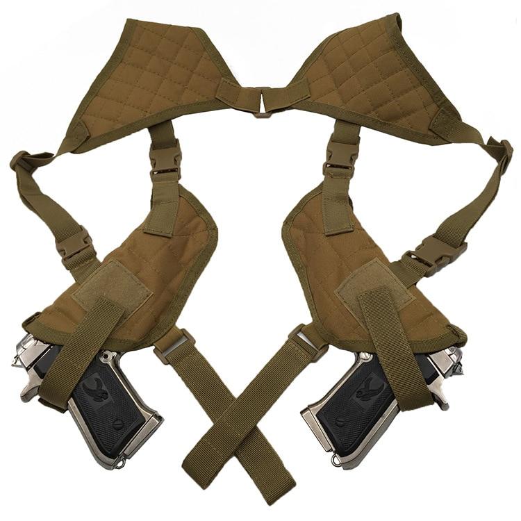 Тактически ляв десен пистолет за пистолет Двойна рамо Кобур чанта Еърсофт Лов за Glock 17 19 22 23 25 30 31 32