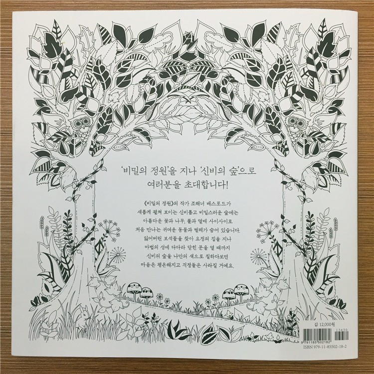 Enchanted Forest Coloring Book Download Aliexpress Buy 25X25 CM 96 Pages Secret