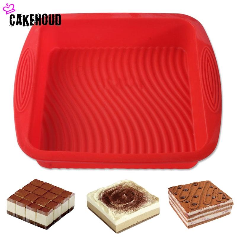 CAKAHOUD Голяма положителна площадка за печене Силикон DIY Хляб Шоколади Пудинг Шифон Торта Паниране на форми за печене