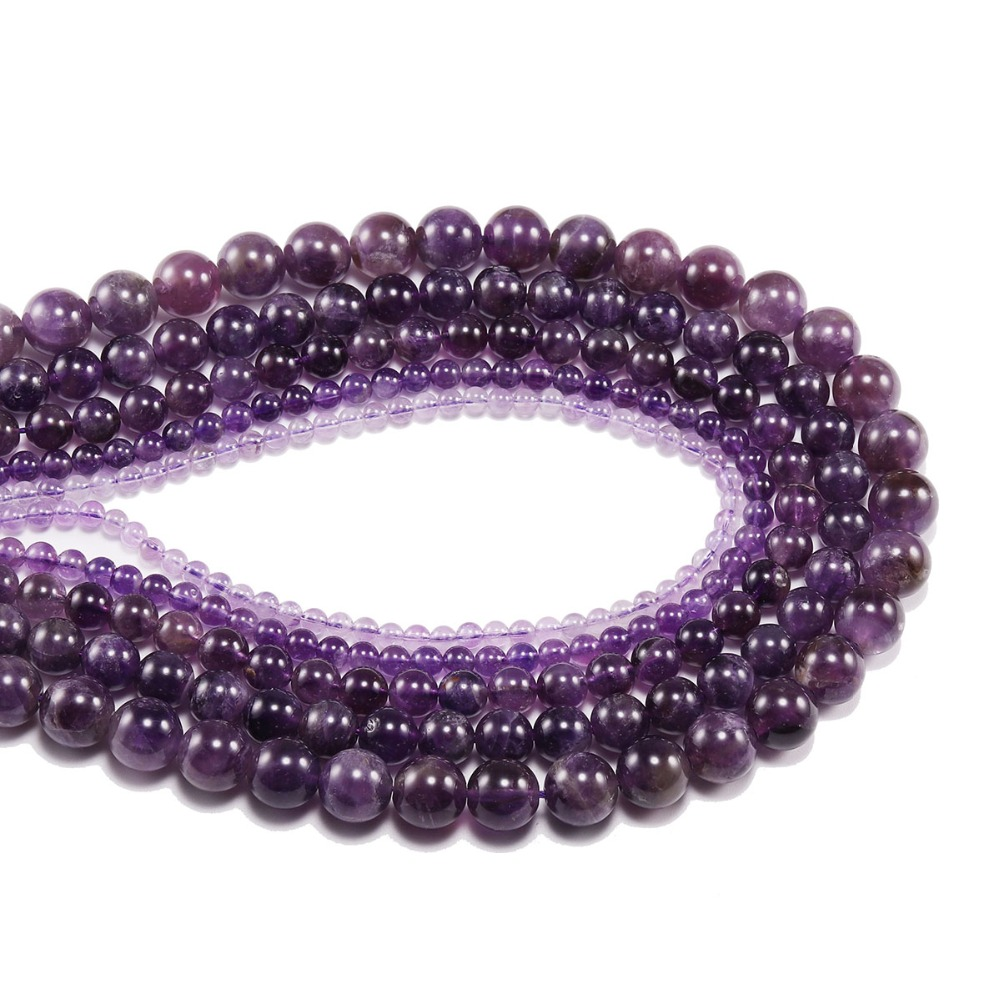 Купить с кэшбэком 1strand/lot 4 6 8 10 12 mm Natural Purple Agat Beads Polished Crafted Purple Crystal Stone Bead Supplies For Jewelry Making