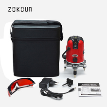 EU plug cloth bag ZOKOUN 360 degrees rotary tilt slash functional 5 lines 6 points outdoor mode cross line laser leveler
