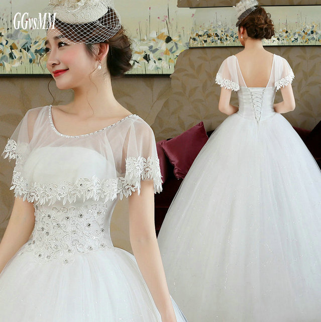 New White Ivory Wedding Dresses Ball Gown Applique Bridal: Sexy Bridal Dress Formal Party Ivory Wedding Dresses Long