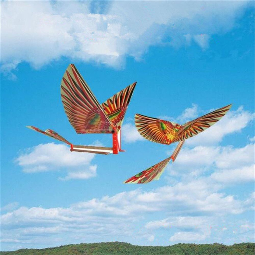 1 Set Hot Sale Creative Rubber Band Power Baby Kids Adults Handmade DIY Bionic Air Plane Ornithopter Birds Models Toys Gifts