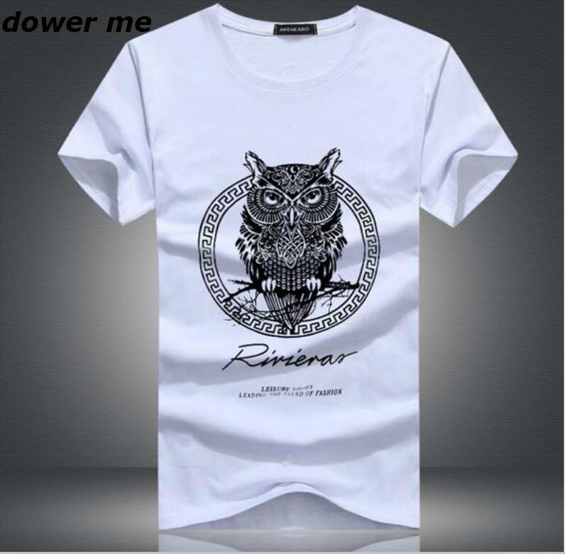 2017 Cotton Slim Men Large Size T Shirt Casual Fashion T-shirt Quality Famous Brand Design New Arrival Men Summer T-shirt