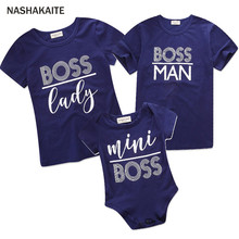bf8ff67aa3f Family matching clothes Mini Boss Family t shirt Baby Romper Dad and Son  matching clothes Mom