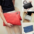 2017 High quality Women Leather Handbags Brand Solid Clutch Handbag Women's Vintage Envelope Bag Bolsa Feminina