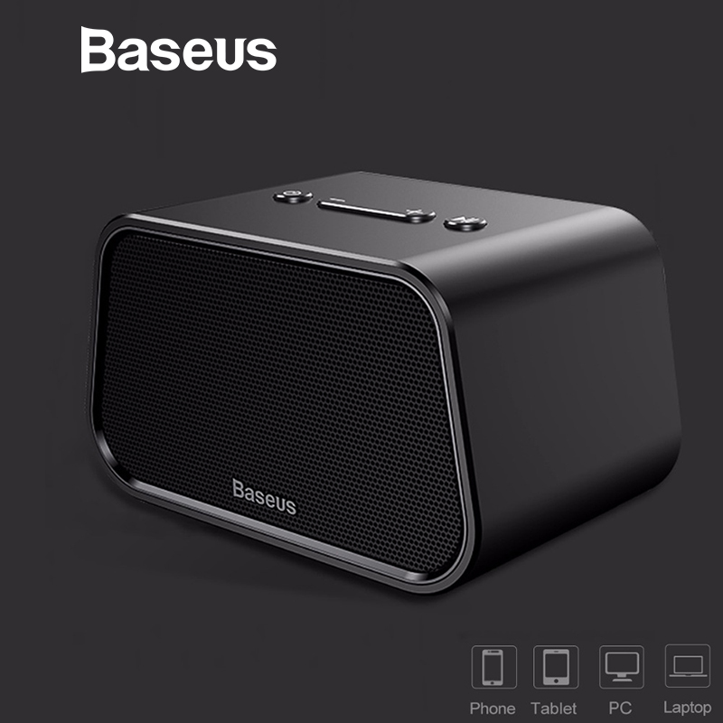 Baseus E02 Mini Touch Control Bluetooth Speaker Built in Mic Portable Wireless Speakers Stereo Sound Box with Bass Mp3 player