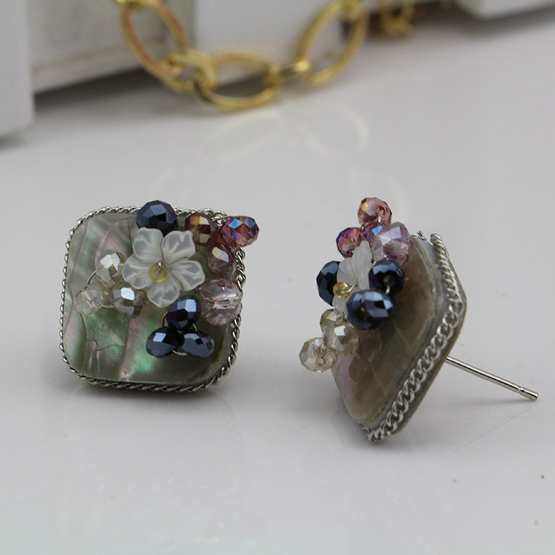 8e6444c4b239 ∞Nuevo vintage pendientes perla Boucle d oreille fritillaria ...