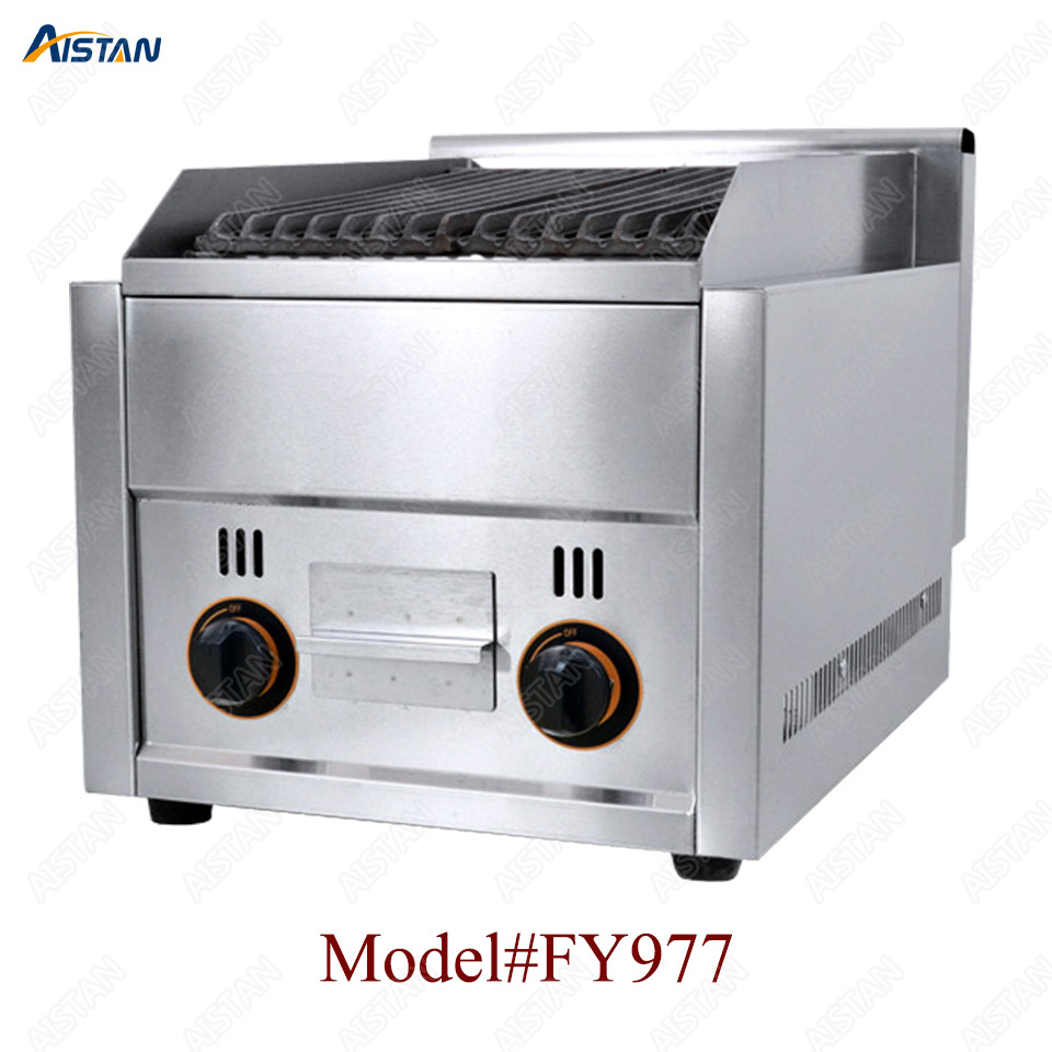 FY977 Commercial stainless steel lava rock grill for bbq equipment