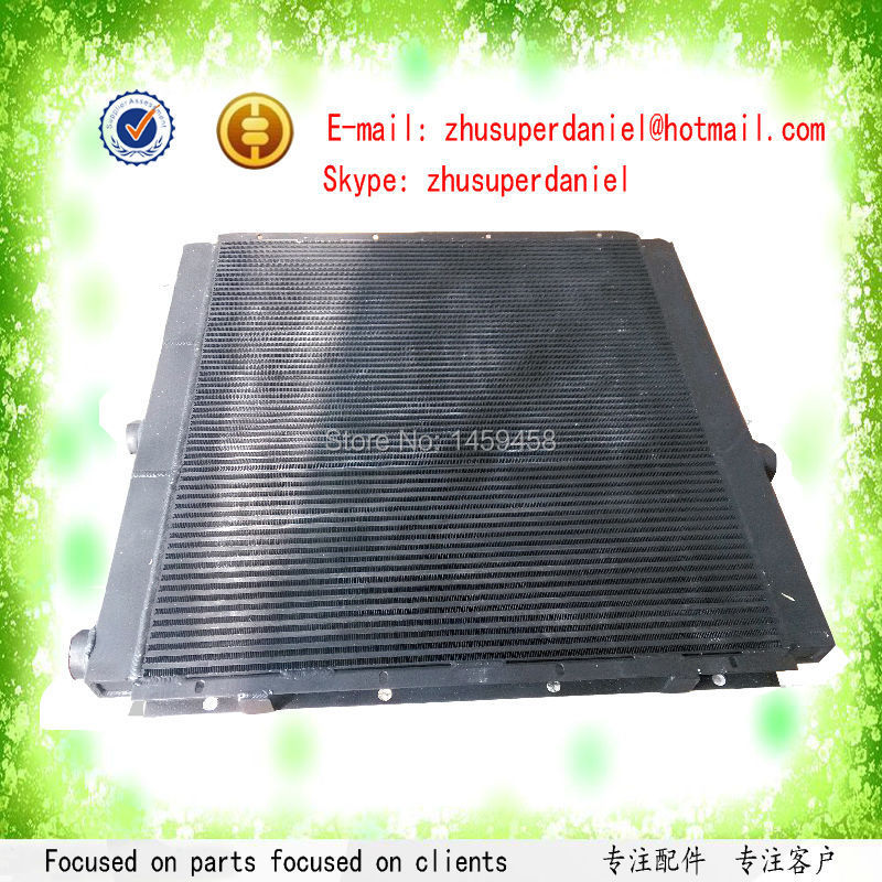 WJIER black aluminum plate-fin air oil radiator 39893151 for oil free Air Compressor Parts цена
