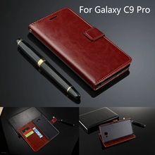 Mobile Cover Phone Case For Samsung Galaxy C9 Pro sm-C9000 Flip Leather Wallet Ultra Thin Fundas Card Holder Capa 6.0
