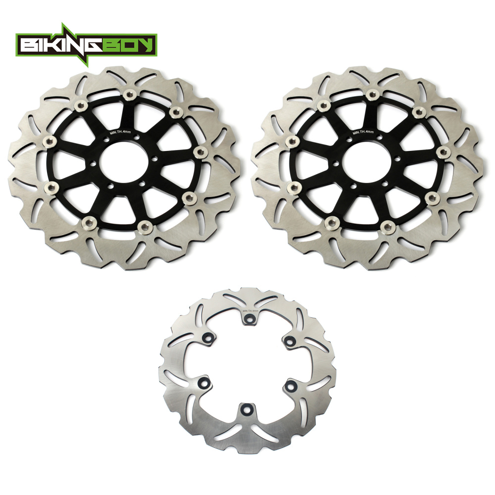 BIKINGBOY Front Rear Brake Discs Disks Rotors For YAMAHA XJR 400 1995 2000 FZR 600 1989 FZR 600 R 1990 1991 1992 1993 1994 1995