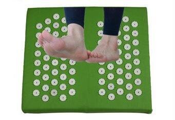 Acupuncture Foot Massage Cushion (size 32*34cm) Neck Back Hip Foot Pain Relief Body Acupressure Massage Mat Pillow Body Massager