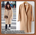 Star Same Style,Women Long-Style Wool Overcoat,High-grade Double-sided Australia Woolen Coat,Big Collar,Big Yards,Slim Outwear