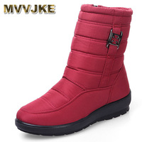 MVVJKE Winter Boots Mother Shoes Antiskid Waterproof Flexible Women Fashion Casual Boots Plus Size