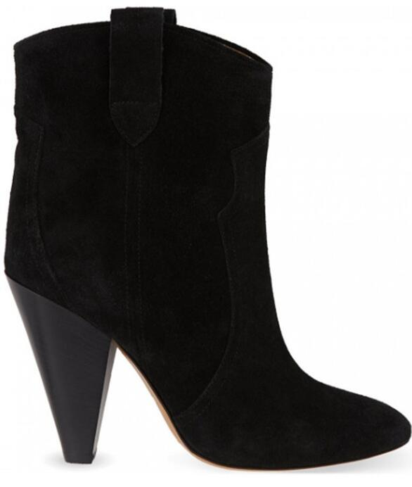 Top Quality New Women Spike Heels Ankle Boots Slip-on Suede Lady Fashion Sexy Boots Shoes Cool Style Autumn High Heels Boots new fashion boots autumn cool