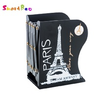 Metal Bookend Big Ben Book Standing Stretching Adjustable Book Stand Paris Tower Book Organizer Office Organizer