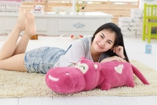 big plush high quality purple-red hippo toy cartoon lovely hippo doll gift about 120cm