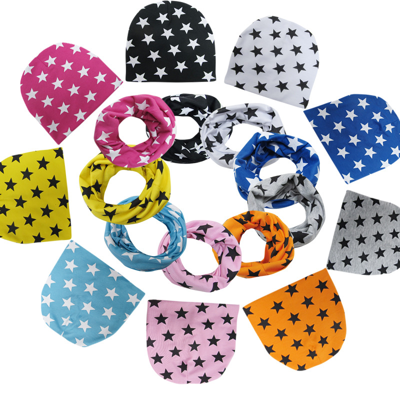 41 Types New Toddler Children's Beanie Head Cap Dome Baby Accessories Collar Scarf Small Star Hat Infant Cotton Cap years old 1