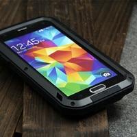 For Samsung Galaxy S5 I9600 Original Love Mei Tak Spuer Waterproof Aluminum Case Gorilla Glass Aluminum