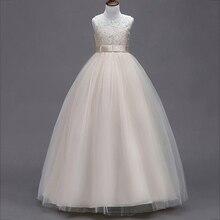 Вечернее длинное платье принцессы; платье для первого причастия; одежда с цветочным узором для девочек на свадьбу; детское бальное платье; пышный элегантный костюм для малышей