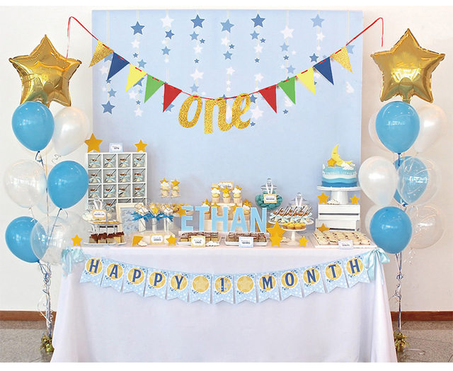 1PC I Am One Bunting Banners My First Birthday Party Decorations Boy Girl Year Old Garland Decoration Supplies