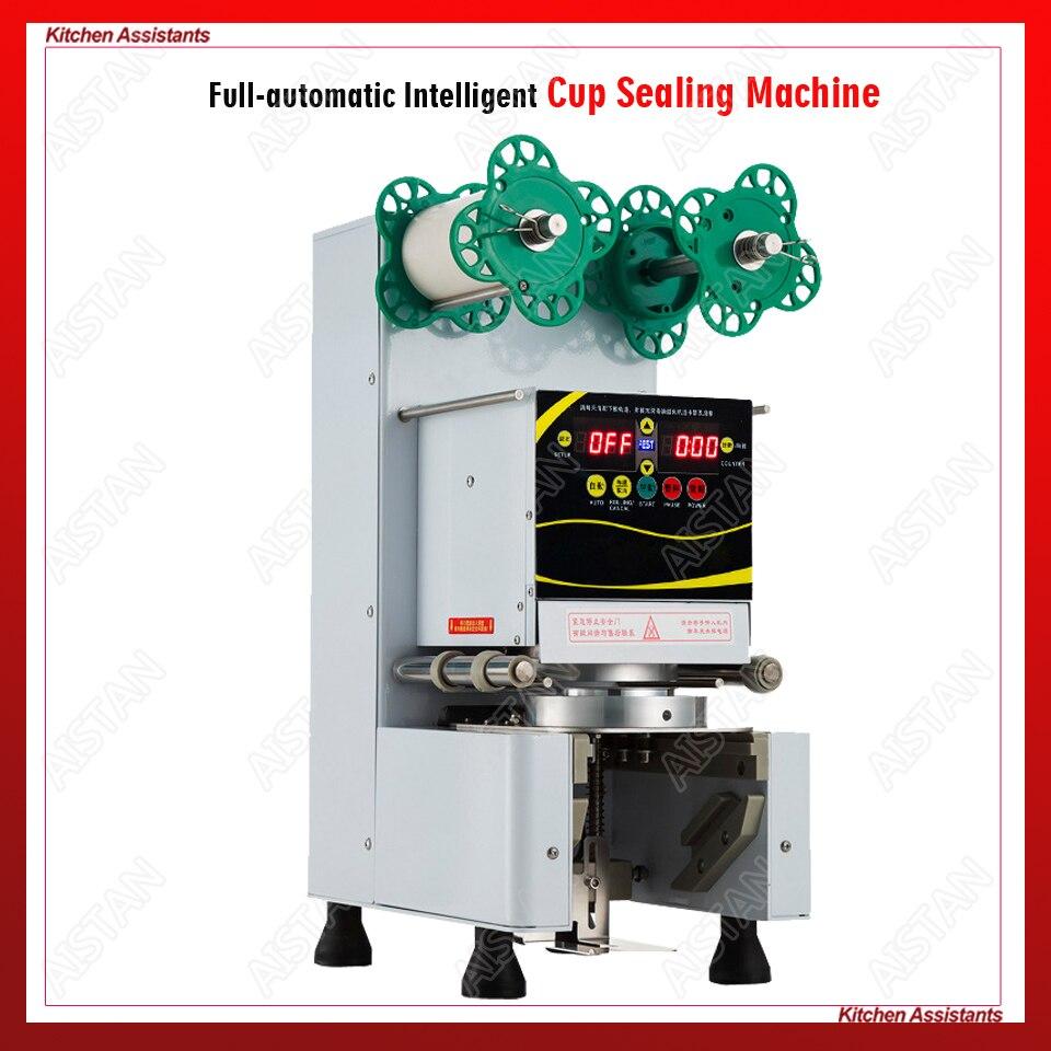 RC995S électrique commerciale automatique thé aux perles tasse machine à sceller pour bar et lait thé boutique