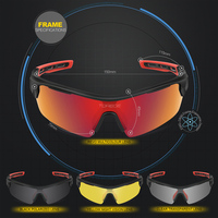 Polarized Sports Sunglasses With 4 Interchangeable Lenes For Men Women Running Driving Fishing Golf Baseball Brand