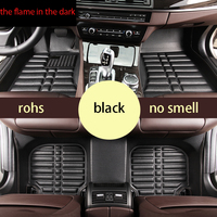 free shipping leather car floor mats for haval great wall hover h3 h5
